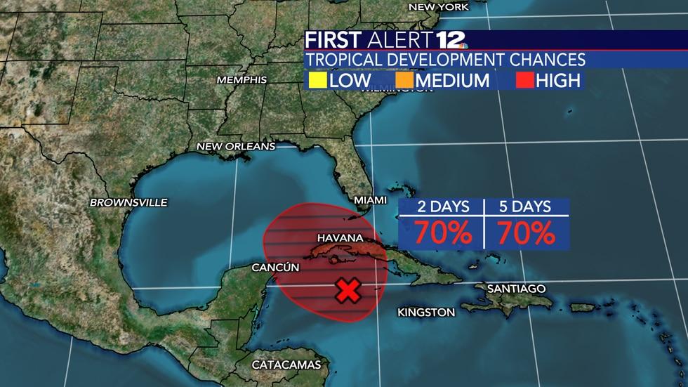 High chance of tropical development next 2 - 5 days
