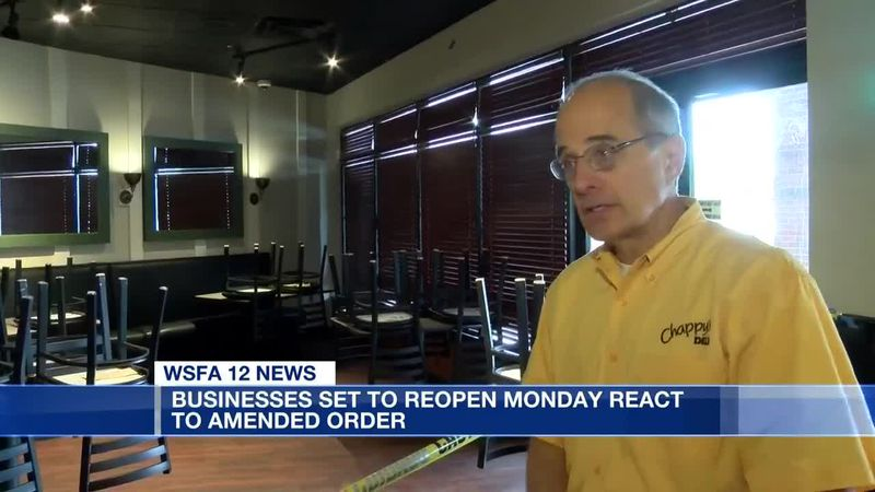 Businesses set to reopen Monday react to amended order