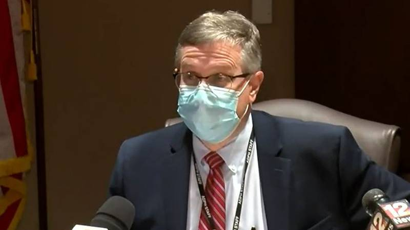 Alabama State Health Officer Dr. Scott Harris gives an update on the COVID-19 pandemic and...