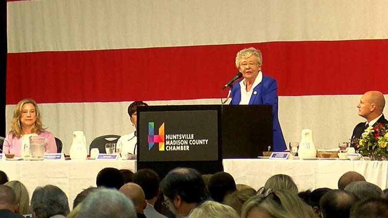 Gov. Kay Ivey spoke to the Huntsville/Madison County Chamber of Commerce on July 10, 2019.