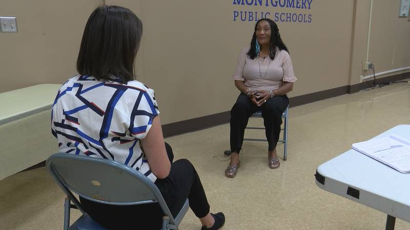 Montgomery Public Schools Superintendent Ann Roy Moore discusses rise in COVID-19 cases among...