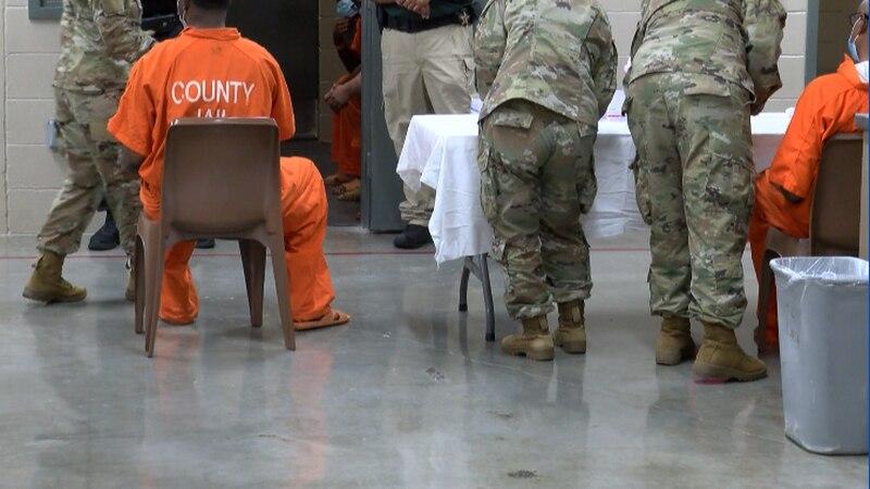 Alabama National Guard vaccinates inmates in county jails
