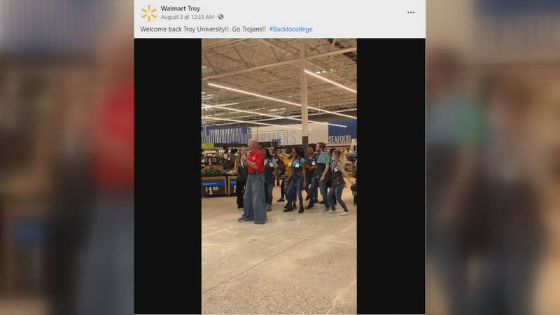 Walmart's Troy location posted a video of employees dancing in the store.