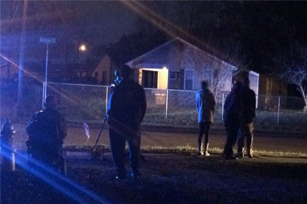 Residents in Mobile Heights neighborhood gathering at the police perimeter. (Source: WSFA 12...