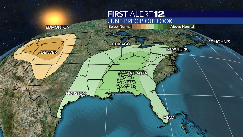 June is expected to be wetter than normal  overall.