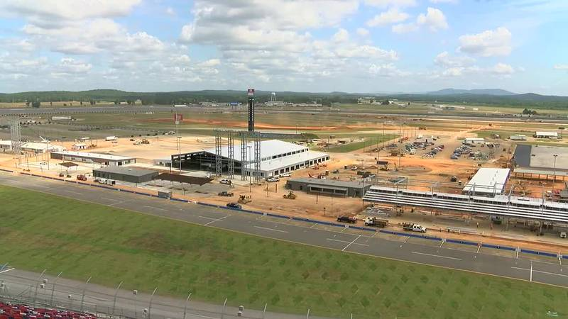 Talladega Superspeedway fan experience construction continues at the track infield