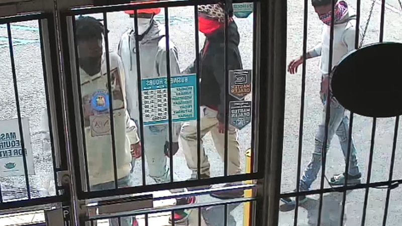 These individuals are accused of robbing City Pawn at 4501 Atlanta Highway on April 13, 2021.