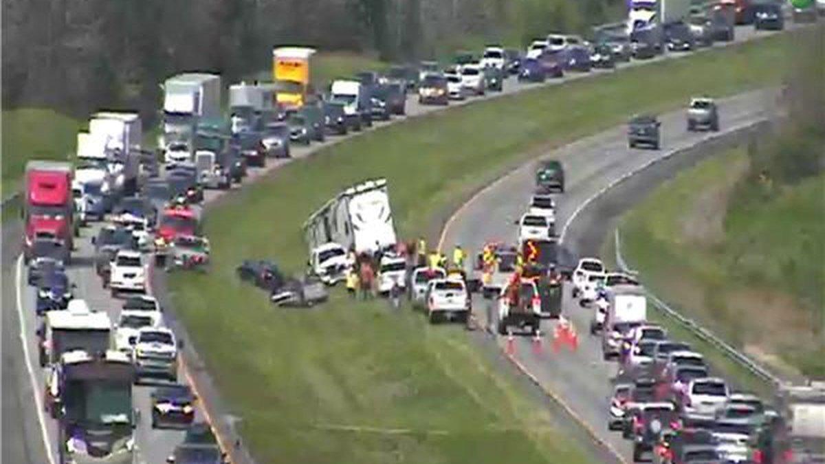 Crash on I-65 near Pine Level (Source: ALDOT)