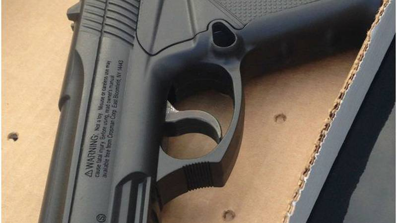 Deputies recovered the weapon, an airsoft gun, inside an apartment down the street. (Source:...