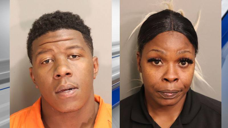 Quandrious Harris (left) and Yashiaka Brown (right) have been charged with first-degree robbery...
