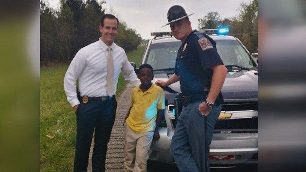 Christopher with Agent Salvador and Trooper Walls (Source: ALEA Facebook)