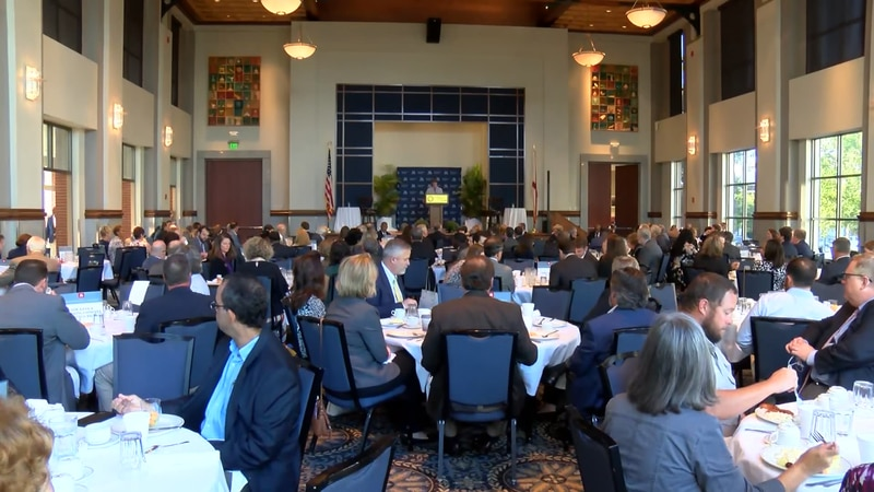 The Montgomery Chamber of Commerce held the annual breakfast Wednesday morning. Montgomery...