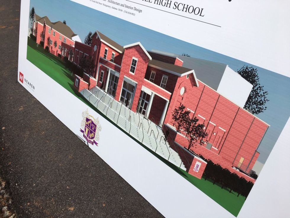 A rendering shows the new $21 million Tallassee High School will look remarkably similar to the...