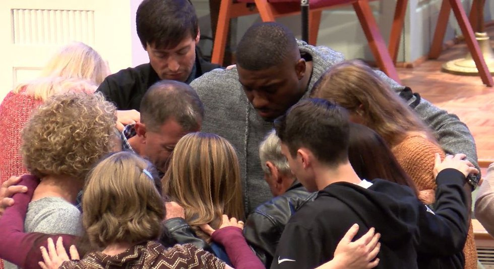 Hundreds gathered at Auburn United Methodist Church to support Aniah Blanchard's family and...