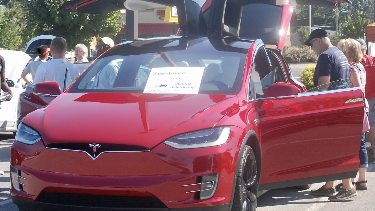 EV owners showed off their cars during a National Drive Electric Week EVent at Stovehouse in...