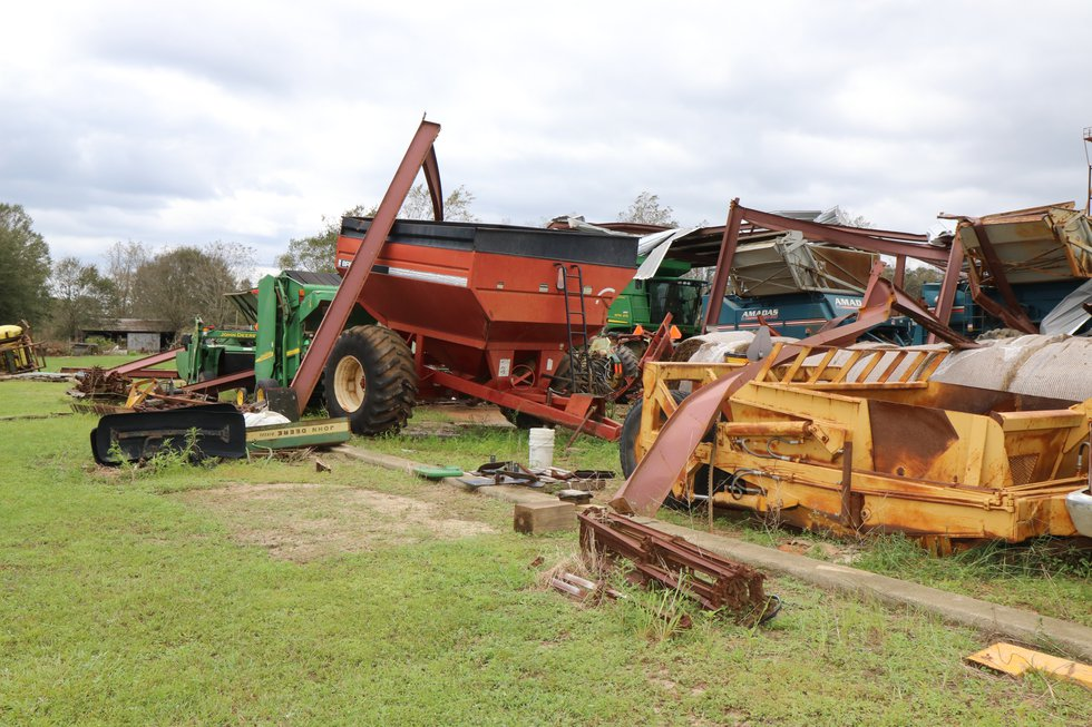 Hurricane Sally damaged crops and structures along Alabama's Gulf Coast when it hit Sept. 16....