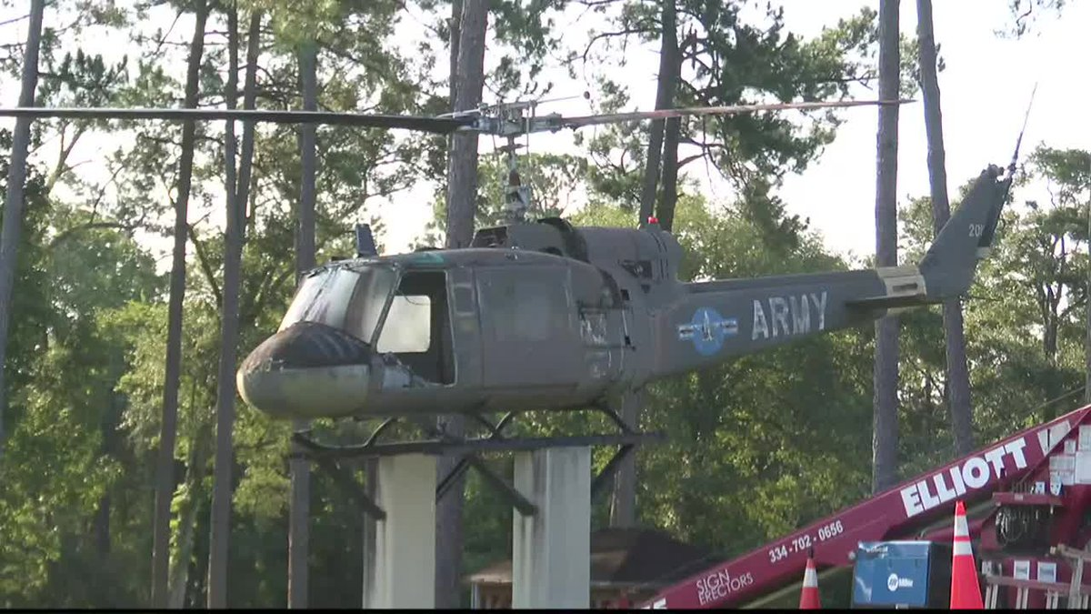 Troy University receives helicopter from Alabama Welcome Center
