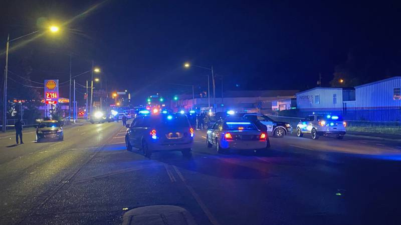 The shooting happened just before 9:30 p.m.