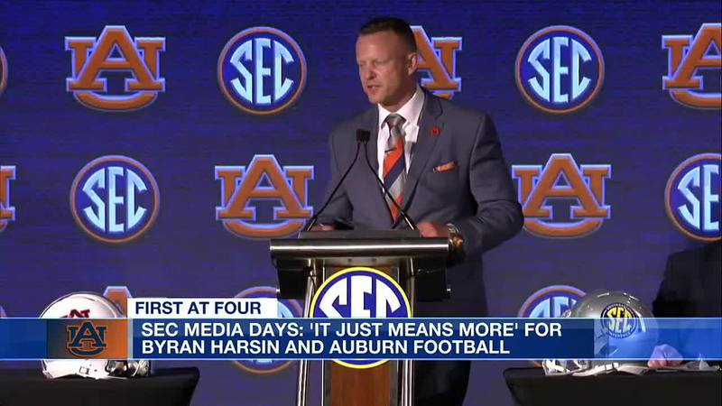 SEC Media Days: 'It just means more' for Bryan Harsin and Auburn football