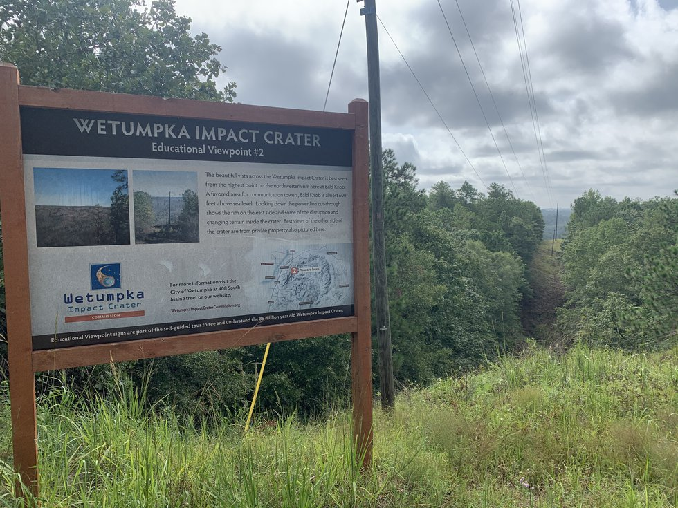 The Wetumpka Impact Crater Commission has placed informational signs at each of the important...