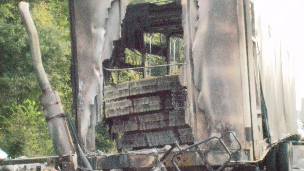 Scene photos from an 18-wheeler crash on Interstate 85 near Shorter in Macon County on Sept....