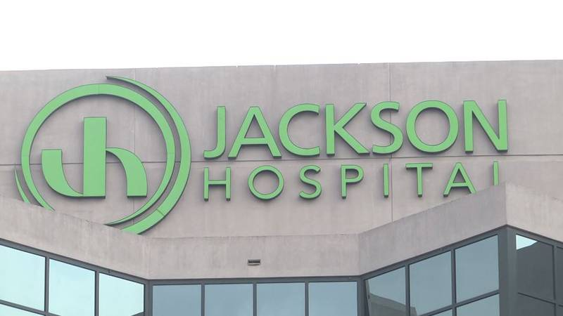 Jackson Hospital in Montgomery was also out of beds in its ICU.