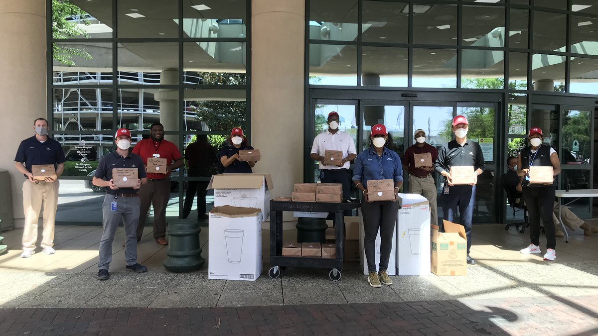 Hyundai Motor Manufacturing Alabama delivered free lunches to health providers at...