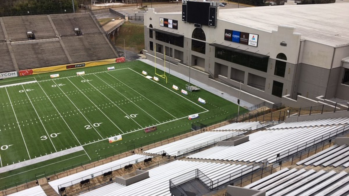Cramton Bowl is ready for its fifth Raycom Medial Camellia Bowl. It airs Saturday on ESPN.