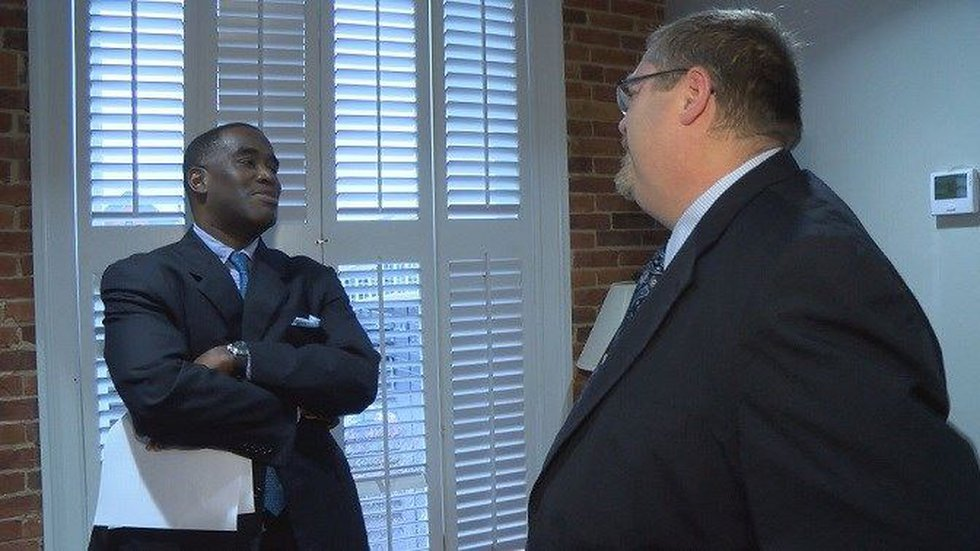 Blake Percival with his attorney, Larry Golston, with the Beasley Allen Law Firm (Source: WSFA...