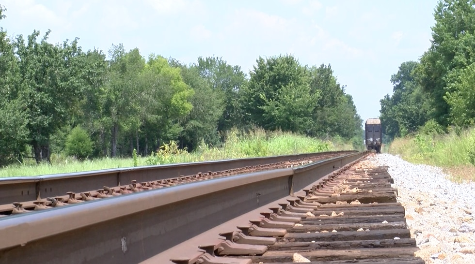 Residents living in a Montgomery neighborhood say a train parked along this train track at the...