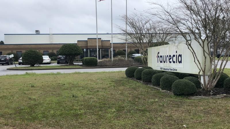 Faurecia automotive parts plant in Tuscaloosa