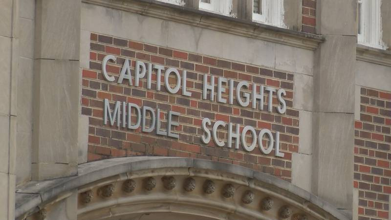 A town hall attendee cited a leaky roof at Capitol Heights Middle School.