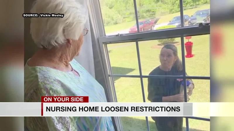 Nursing homes loosen restrictions