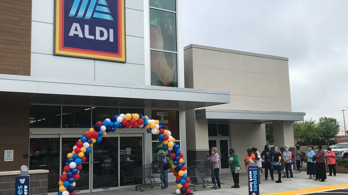 A grand opening ceremony was held for the new ALDI store on Montgomery's Eastchase Parkway on...