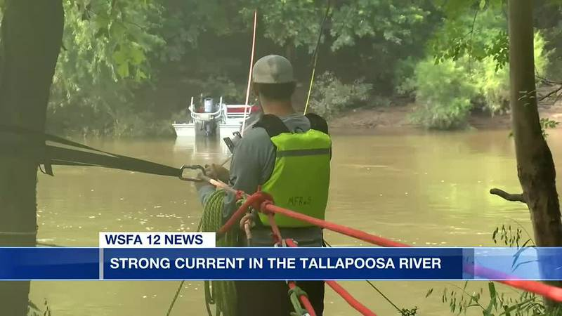 Strong current in the Tallapoosa River