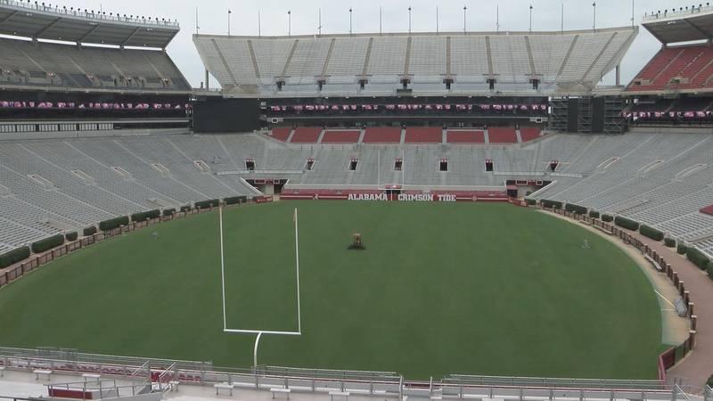 WSFA 12 News anchor Sally Pitts toured football stadiums across Alabama.