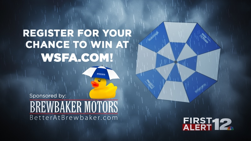 Register for your chance to win a WSFA First Alert golf umbrella.