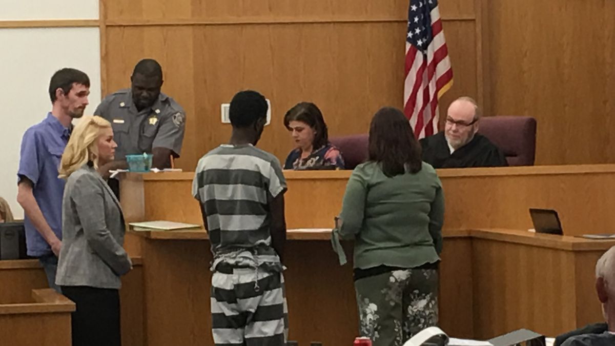 Terrance Devonte Cobb, 20, appeared in Elmore County District Court Thursday.  He's charged...