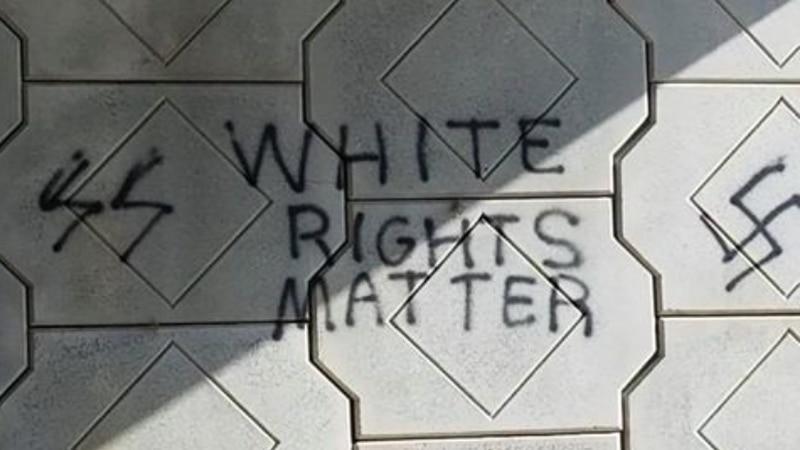 Racist graffiti in Huntsville