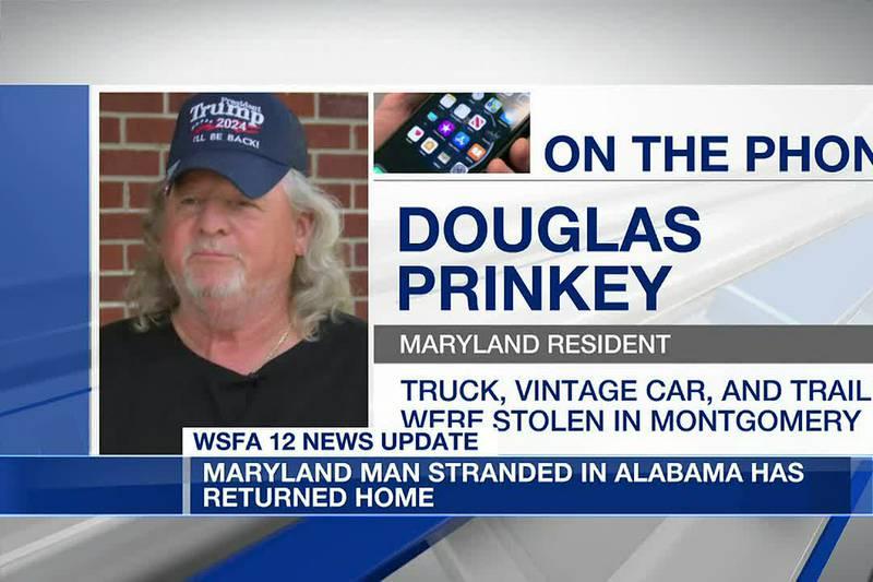 Maryland man stranded in Alabama returns home