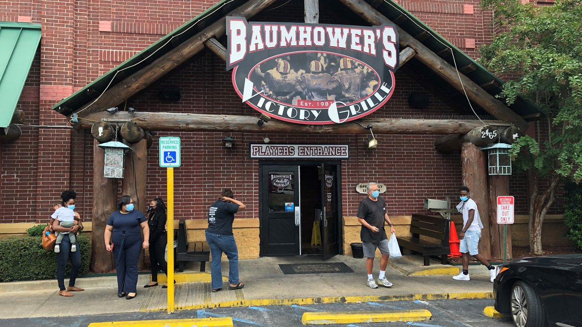 Many local bars and restaurants, like Baumhower's Victory Grille in Montgomery, say they are...