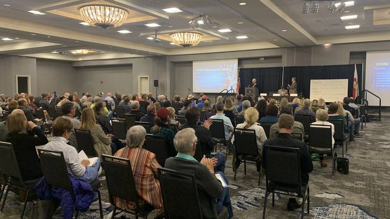 Hundreds gathered in downtown Montgomery to get their questions about COIVD-19 answered.