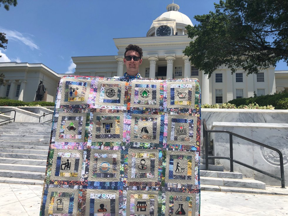 William Stich-Smith is on a cross-country trek to reach the lower 48 state capitols with his...