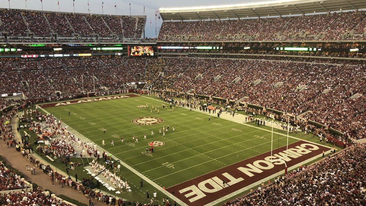 Bryant Denny Stadium during University of Alabama Homecoming Game