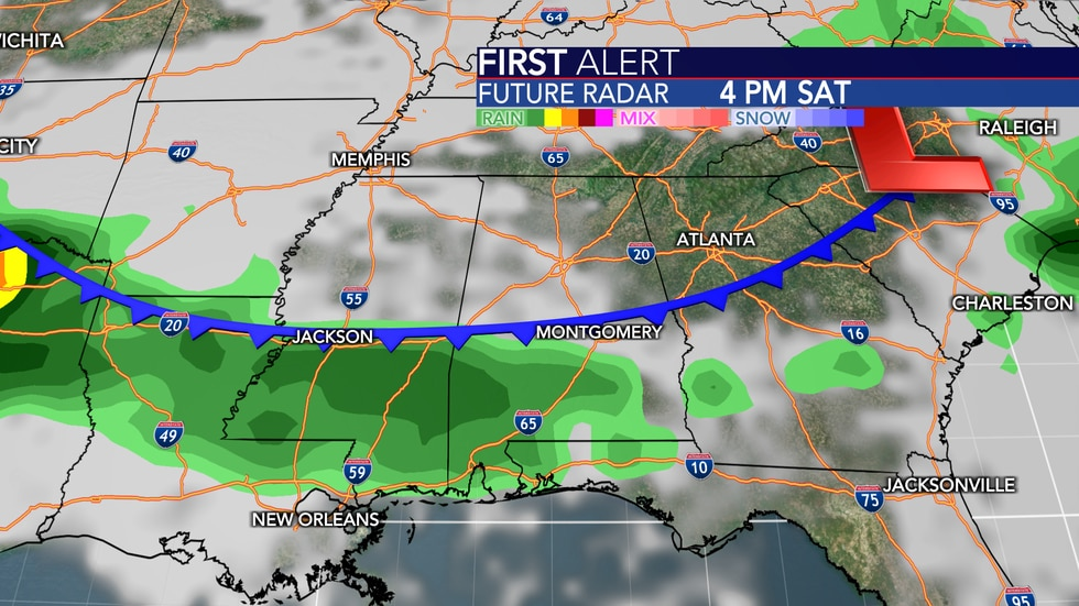 A chance of a couple showers and storms exists between late Friday and Monday, but Saturday's...