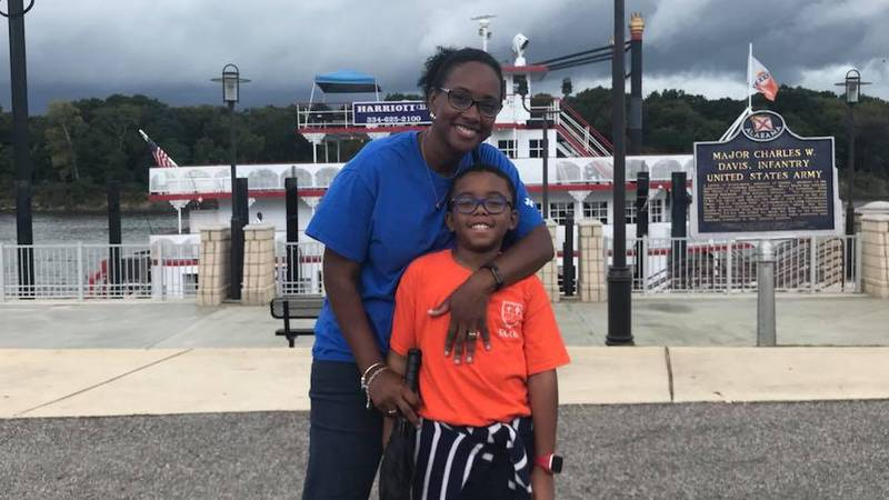 Courtney Griffin and her son, Carson.