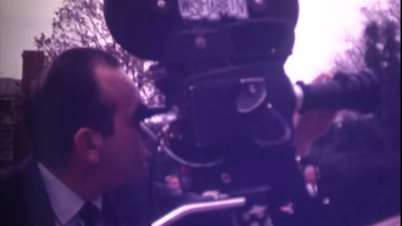 A WSFA photographer believed to be Tal Eaton films the 1969 ceremony of the City of...