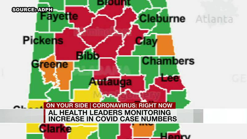 Alabama health leaders monitoring increase in COVID case numbers