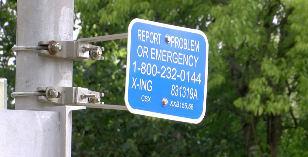 If there is an emergency and a train is blocking the path. CSX urges residents to call the...