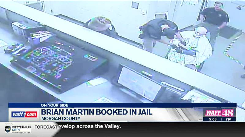 Brian Martin booked into jail